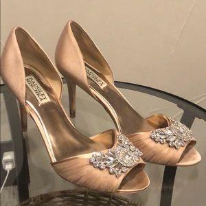Badgley Mischka low heels.
